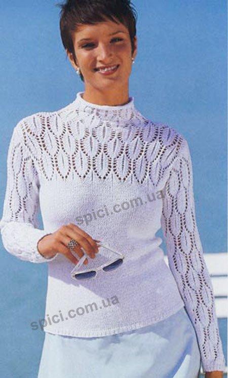 схемы и фото вязки крючком ажурных шарфов