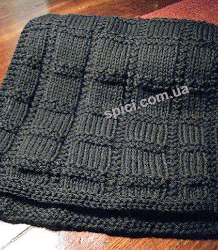 вязаные ажурные спицами шарфы.