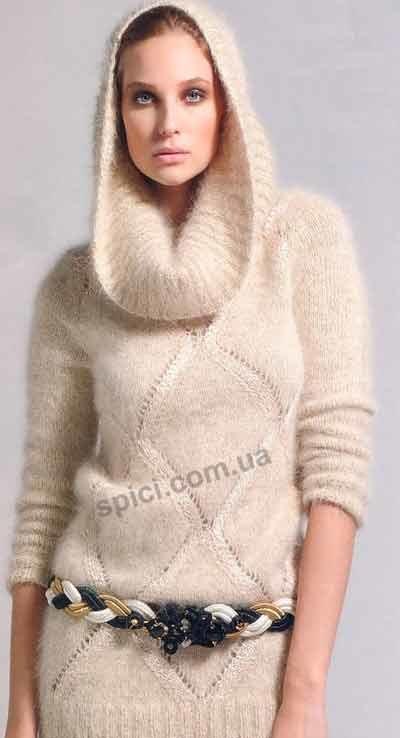 Вязать свитер из ангоры