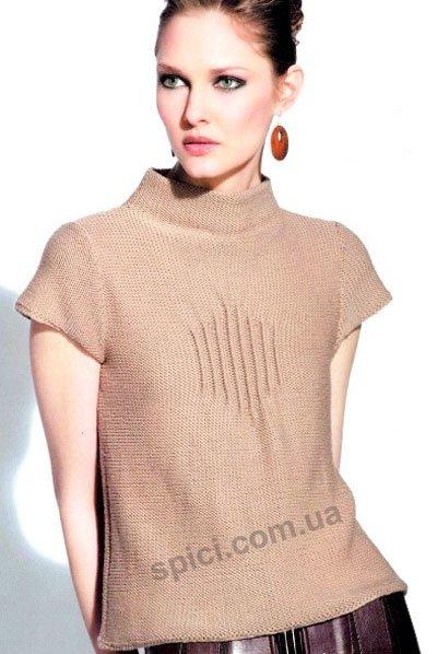 Модели вязаных на спицах женских свитеров