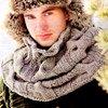 Вязание спицами - шарф - снуд. детская шапка спицами для девочки.